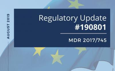 Regulatory Update #190801– MDR 2017/745